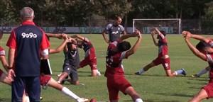 آخرین تمرینات آماده سازی بازیکنان تیم ملی امید