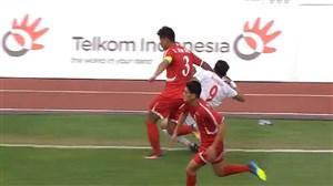 اخراج بازیکن کره شمالی در بازی مقابل تیم ملی امید