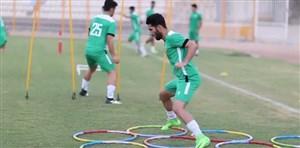 تمرین نفت مسجد سلیمان قبل از بازی با پرسپولیس