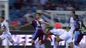 خطای پنالتی روی مجید حسینی در بازی دیشب ترابزون