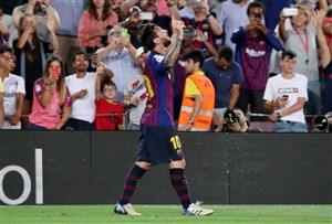 بارسلونا 3-0 آلاوس: شروع طوفانی با مسی