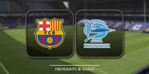 خلاصه بازی بارسلونا 3 - آلاوس 0