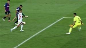 گل سوم بارسلونا به آلاوس (لیونل مسی)