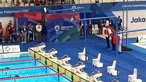 مشکل میله پرچم در استادیوم شنای بازیهای آسیایی