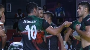 خلاصه بازی کبدی ایران 36 - پاکستان 20