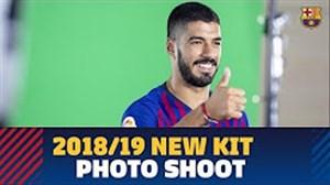 پشتصحنه عکاسی از کیت جدید بارسلونا برای فصل 2018/19
