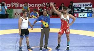 پیروزی 8 بر صفر حسین نوری مقابل حریف یمنی