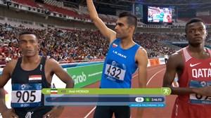 مدال نقره امیر مرادی در دو 1500 متر جاکارتا