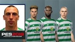 چهره و مشخصات بازیکنان سلتیک در PES 2019