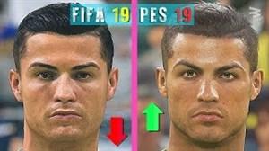 مقایسه چهره بازیکنان یوونتوس در PES2019 و FIFA19