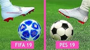 مقایسه گرافیک و کیفیت بازی PES 20 19 با FIFA 19