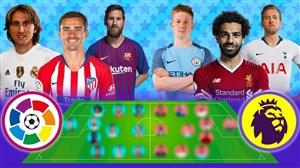 مقایسه بهترین های لالیگا و لیگ جزیره 19-2018