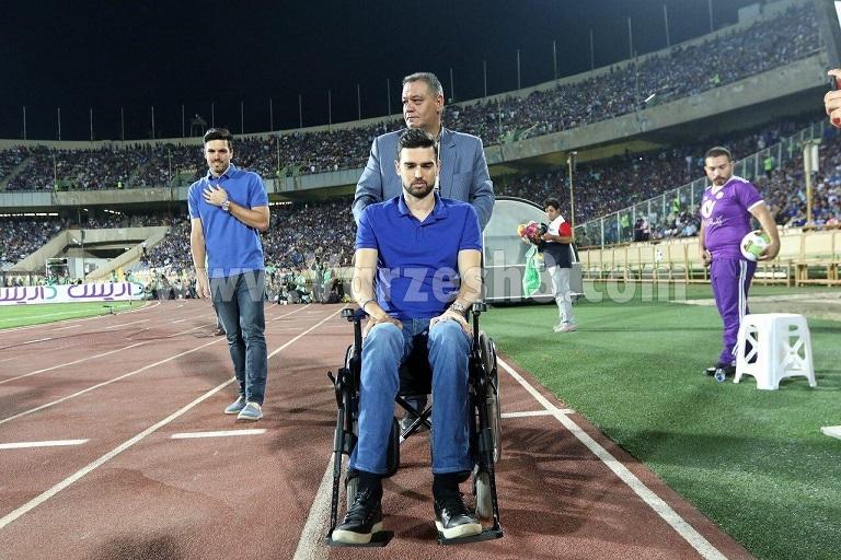 پادوانی با صندلی چرخدار به آزادی بازگشت(عکس)