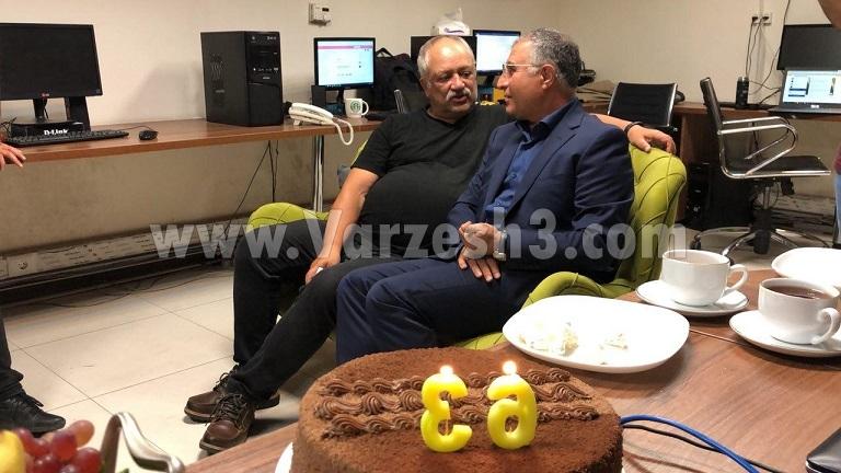 جشن تولد ورزش سه برای آقا مجید (عکس)