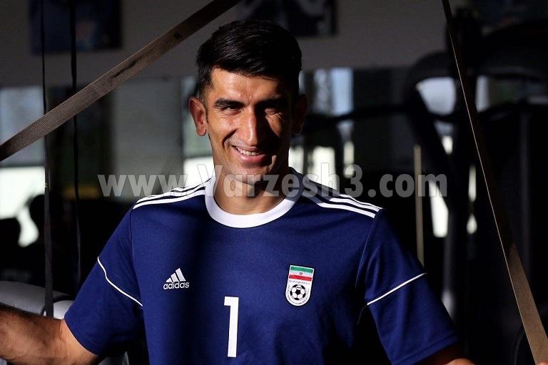 بیرانوند ۱۵ ساله در تمرین تیم ملی! (عکس)