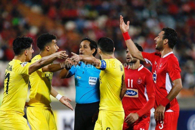 درگیری بازیکنان پرسپولیس با السد در قهرمانان آسیا