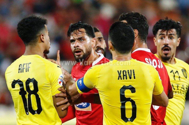 درگیری بازیکنان پرسپولیس با بازیکنان السد در قهرمانان آسیا